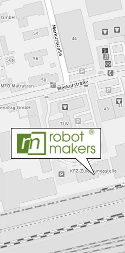Anfahrt Robot Makers GmbH
