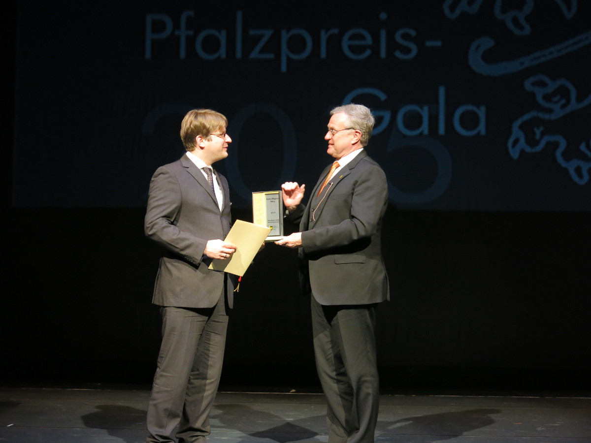 Ehrung unseres Geschäftsführers Herr Leroch mit dem Zukunftspreis Pfalz 2015
