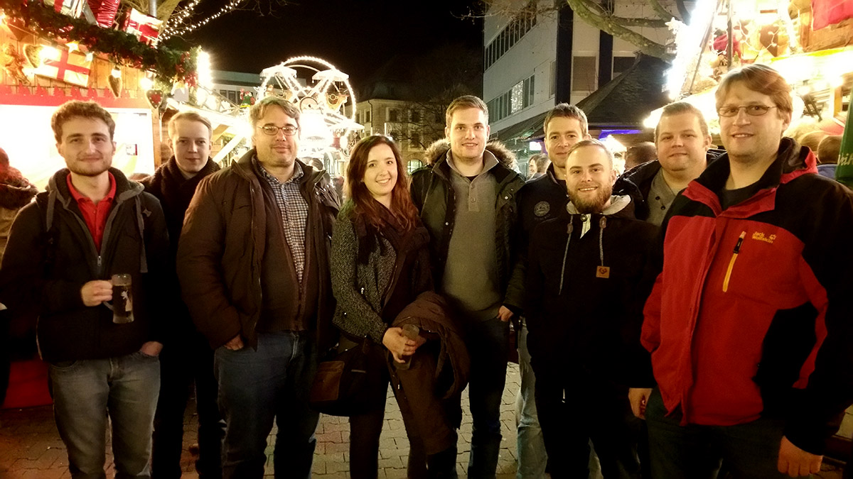 Robot Makers visit christmas market in Kaiserslautern