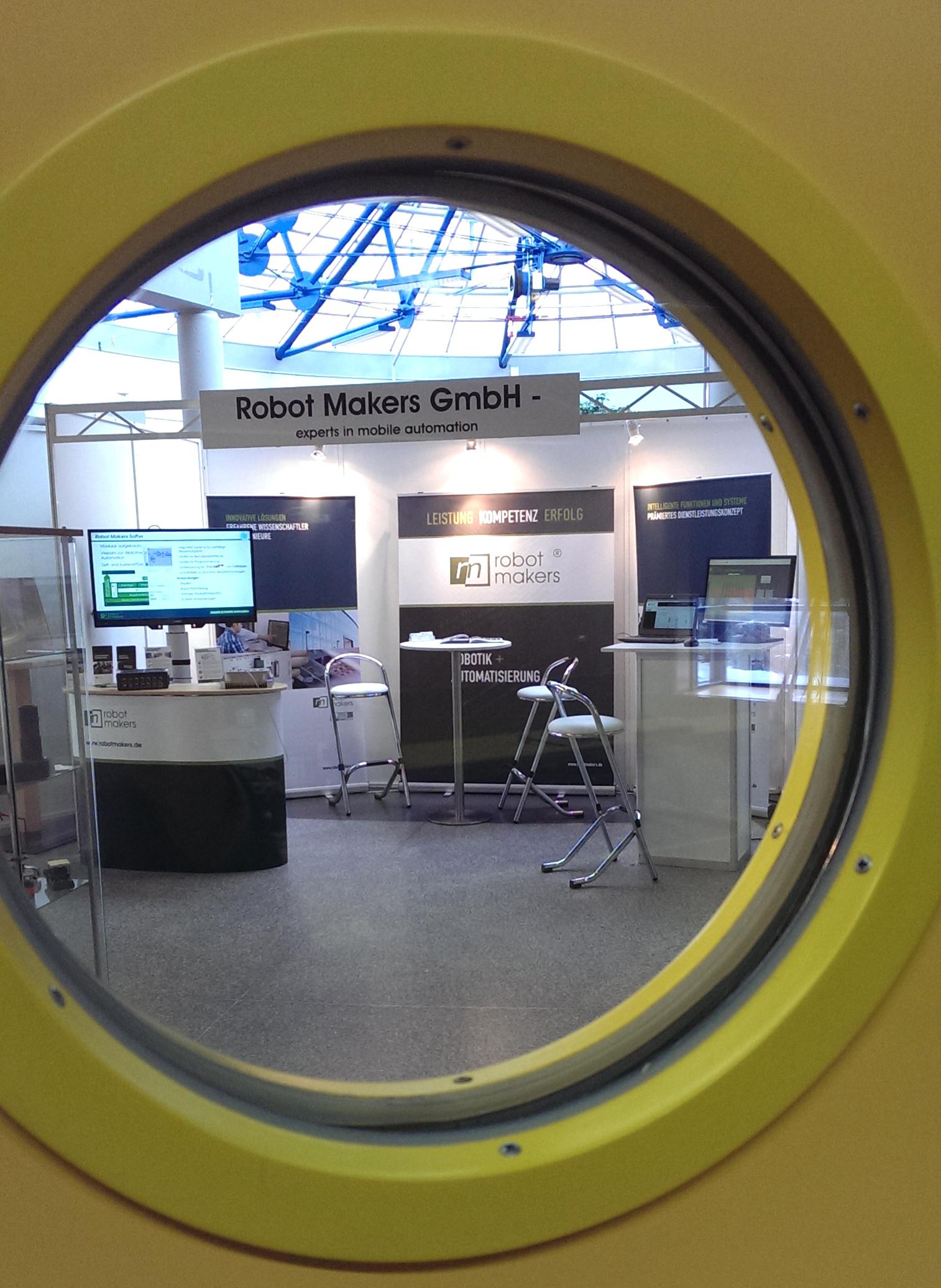 Stand der Robot Makers GmbH auf dem 4. CVT-Symposium in Kaiserslautern