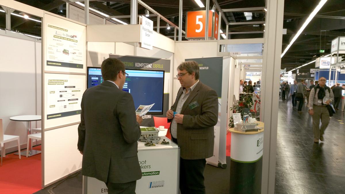 Zahlreiche Besucher informierten sich an den drei Ausstellungstagen über die Leistungen der Robot Makers GmbH