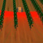 Simulation der Umfelderfassung mit Hilfe eines Laserscanners in einer Reihenkultur