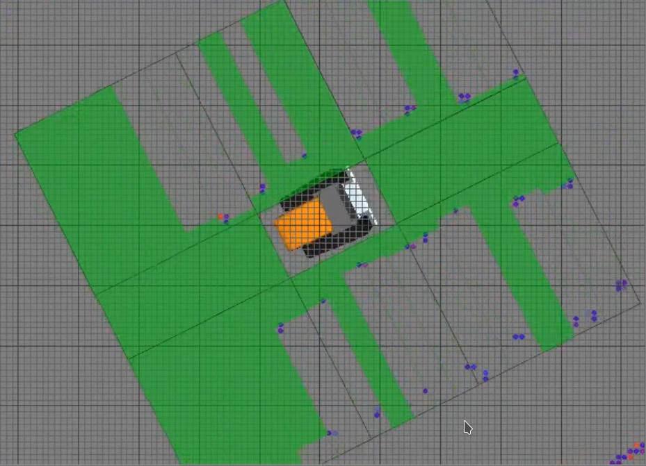 Die Rasterkarte die durch den Einsatz eines Laserscanners automatisch in Echtzeit erstellt wird.