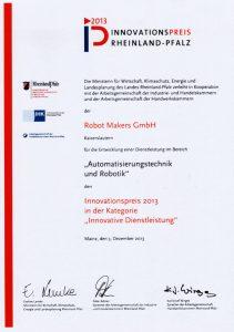 """Innovationspreis 2013 Kategorie """"Innovative Dienstleistungen"""""""